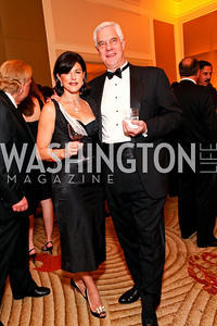 "Koula Papadopoulos and Marvin Rosskopf.  Joan Hisaoka ""Make a Difference"" Gala. Mandarin Oriental Hotel. October 24, 2009. photos by Tony Powell"