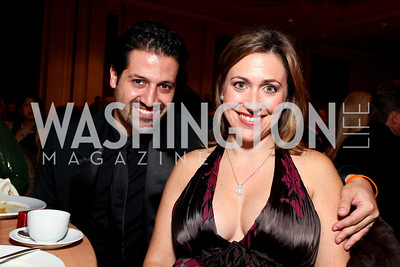 "Qubad Talabani and Sherri Kraham-Talabani. Joan Hisaoka ""Make a Difference"" Gala. Mandarin Oriental Hotel. October 24, 2009. photos by Tony Powell"