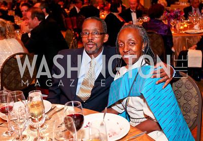 "Ayende Youmans and Myrtle Washington. Joan Hisaoka ""Make a Difference"" Gala. Mandarin Oriental Hotel. October 24, 2009. photos by Tony Powell"