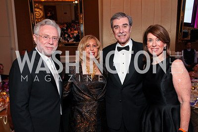 "Wolf Blitzer, Edilia and Carlos Gutierrez, Lynn Blitzer. Joan Hisaoka ""Make a Difference"" Gala. Mandarin Oriental Hotel. October 24, 2009. photos by Tony Powell"