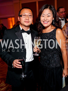 "Eric Kim, Jinny Lee. Joan Hisaoka ""Make a Difference"" Gala. Mandarin Oriental Hotel. October 24, 2009. photos by Tony Powell"