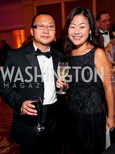 "Eric Kim, Jinny Lee. Joan Hisaoka ""Make a Difference"" Gala. Mandarin Oriental Hotel. October 24, 2009. photos by Tony Powell"