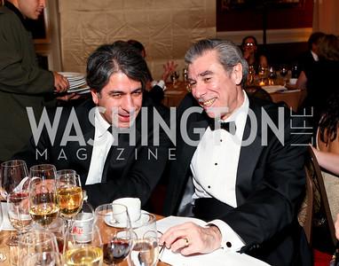 "Soroush Richard Shehabi and Carlos Gutierrez. Joan Hisaoka ""Make a Difference"" Gala. Mandarin Oriental Hotel. October 24, 2009. photos by Tony Powell"