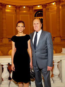 Luciana and Robert Duvall. ICCF Congressional Dinner Honoring HSH Prince Albert II of Monaco. Cannon Caucus Room. October 20, 2009. photos by Tony Powell