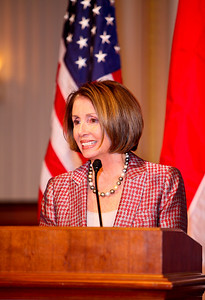 Nancy Pelosi. ICCF Congressional Dinner Honoring HSH Prince Albert II of Monaco. Cannon Caucus Room. October 20, 2009. photos by Tony Powell