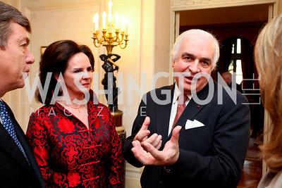 Agnes Aerts, Belgium Amb. Jan Matthysen. A dinner in honor of Ambassador and Mrs. Sam Fox. Belgian Ambassador's residence. October 5, 2009. photos by Tony Powell