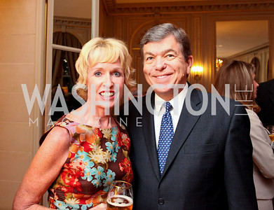 Kathy Kemper and Rep. Roy Blunt. A dinner in honor of Ambassador and Mrs. Sam Fox. Belgian Ambassador's residence. October 5, 2009. photos by Tony Powell