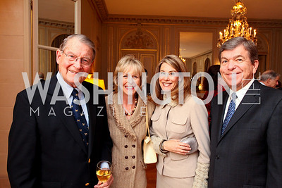 William Webster, Lynn Webster, Abigail Blunt, Rep. Roy Blunt. A dinner in honor of Ambassador and Mrs. Sam Fox. Belgian Ambassador's residence. October 5, 2009. photos by Tony Powell