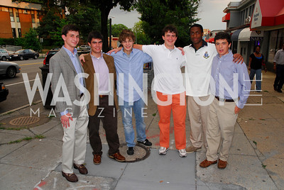 Jack Prominski, Alexander Basil, Gunnar Sidde, Wes Thomas, Nicholas Folger, Photograph by Kyle Samperton
