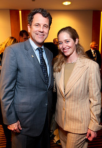 Ohio Senator Sherrod Brown and Nancy Reynolds Bagley. J Street Gala Dinner. Grand Hyatt Hotel. October 27, 2009. photos by Tony Powell