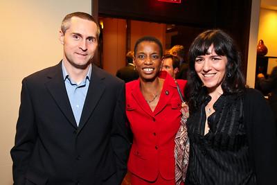 Todd Hathaway, Maryland Congresswoman Donna Edwards, Nora Maccoby. J Street Gala Dinner. Grand Hyatt Hotel. October 27, 2009. photos by Tony Powell