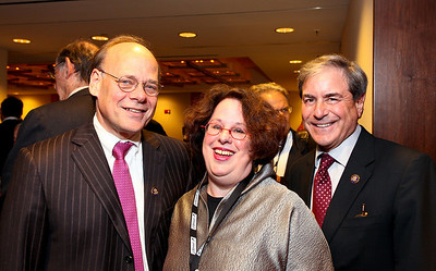 Tennessee Congressman Steve Cohen, Barbara Lahav, Kentucky Congressman John Yarmuth. J Street Gala Dinner. Grand Hyatt Hotel. October 27, 2009. photos by Tony Powell