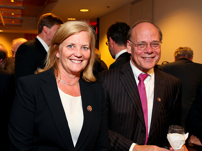 Members of Congress Chellie Pingree of Maine and Steve Cohen of Tennessee. J Street Gala Dinner. Grand Hyatt Hotel. October 27, 2009. photos by Tony Powell