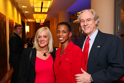 Trish Vradenburg, Maryland Congresswoman Donna Edwards, George Vradenburg. J Street Gala Dinner. Grand Hyatt Hotel. October 27, 2009. photos by Tony Powell