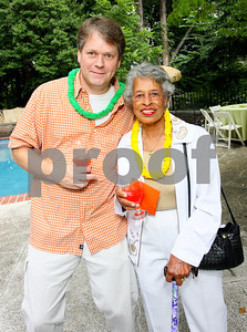 Jim Oliver, Healthy Babies Project Executive Director Delores Farr, Photograph by Tony Powell
