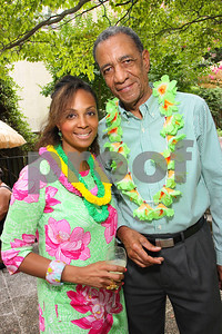 Jacqui Watson, Jamaican Ambassador Anthony Johnson, Photograph by Tony Powell