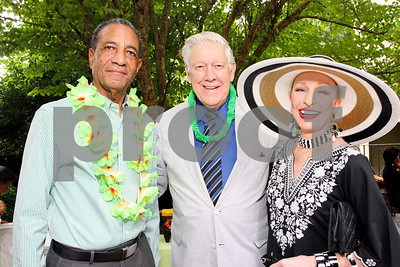 Jamaican Ambassador Anthony Johnson, General Lawrence Skantze, Pat Skantze, Photograph by Tony Powell
