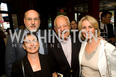 Deborah Simon, Dr Jim Simon, Sally Quinn, Bob Schieffer, Photograph by Betsy Spurill Clarke