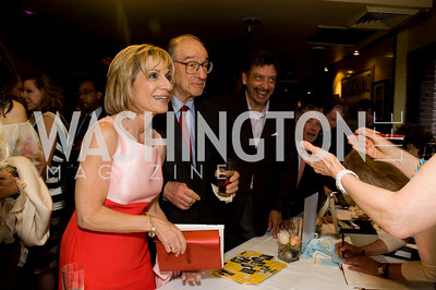 Andrea Mitchell, Alan Greenspan, Len DePas, Photograph by Betsy Spurill Clarke