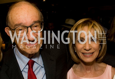 Andrea Mitchell, Alan Greenspan, Photograph by Betsy Spurill Clarke