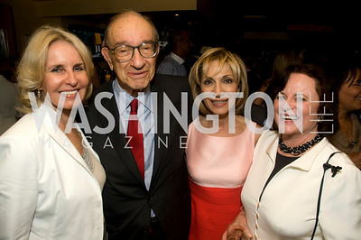 Sally Quinn, Liz Stevens, Andrea Mitchell, Alan Greenspan, Photograph by Betsy Spurill Clarke