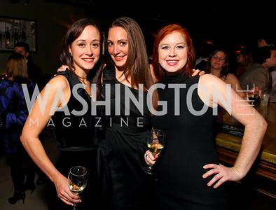 Katherine Potosky, Sara Lange, Jessie Cochran. Jete Society Nutcracker Party at George. December 18, 2009. photos by Tony Powell
