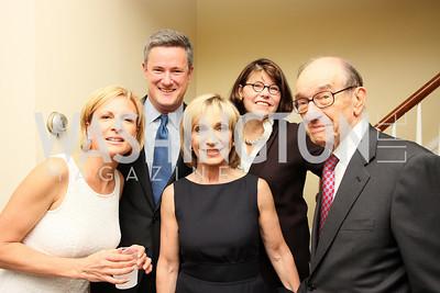 Mika Brzezinski, Joe Scarborough, Andrea Mitchell, Margaret Carlson, Alan Greenspan