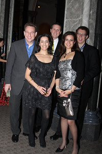 Geoffrey Finkel, Reema Elaraj, Anita Elaraj, Jerry Roletfer, Michael Borenhaus Smithsonian Jolly Holiday. December 04, 2009. Photo's by Michael Domingo