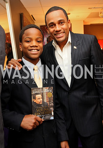 "Foundation apprentice ""Brandon Pizarro"" with founder ""Hill Harper"" Honorary Chairs Hill Harper and The Honorable James Clyburn host a cocktail reception and fundraiser for Manifest Your Destiny Foundation at Fendi Casa May 13, 2009 (photo by Tony Powell)"
