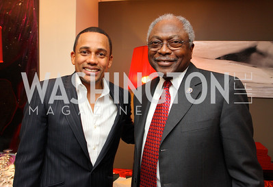 """Co-hosts """"Hill Harper"""" and Rep. """"James Clyburn"""" Honorary Chairs Hill Harper and The Honorable James Clyburn host a cocktail reception and fundraiser for Manifest Your Destiny Foundation at Fendi Casa May 13, 2009 (photo by Tony Powell)"""