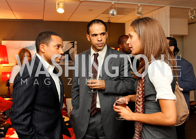 """Hill Harper"", ""David Washington"", Brownstein Hyatt Farber Schreck Associate ""Ellen Chube"" Honorary Chairs Hill Harper and The Honorable James Clyburn host a cocktail reception and fundraiser for Manifest Your Destiny Foundation at Fendi Casa May 13, 2009 (photo by Tony Powell)"