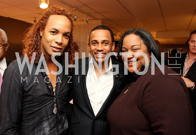 """Paul Wharton"", ""Hill Harper"", ""Tanya Lombard"" Honorary Chairs Hill Harper and The Honorable James Clyburn host a cocktail reception and fundraiser for Manifest Your Destiny Foundation at Fendi Casa May 13, 2009 (photo by Tony Powell)"