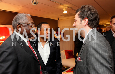 """Rep. """"James Clyburn"""", """"Hill Harper"""", and """"Michael Clements"""" Honorary Chairs Hill Harper and The Honorable James Clyburn host a cocktail reception and fundraiser for Manifest Your Destiny Foundation at Fendi Casa May 13, 2009 (photo by Tony Powell)"""