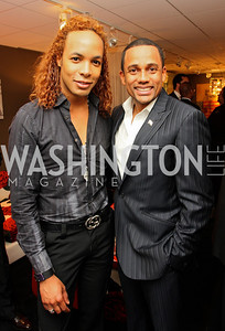 """Paul Wharton"" and ""Hill Harper"" Honorary Chairs Hill Harper and The Honorable James Clyburn host a cocktail reception and fundraiser for Manifest Your Destiny Foundation at Fendi Casa May 13, 2009 (photo by Tony Powell)"