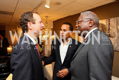 """Rep. """"Adam Schiff"""", """"Hill Harper"""" and Rep. """"James Clyburn"""" Honorary Chairs Hill Harper and The Honorable James Clyburn host a cocktail reception and fundraiser for Manifest Your Destiny Foundation at Fendi Casa May 13, 2009 (photo by Tony Powell)"""