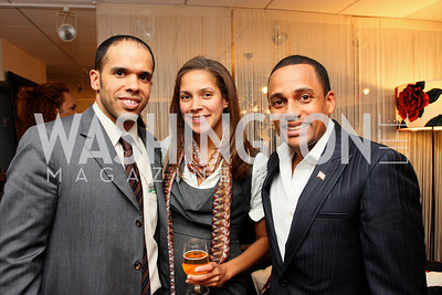 """""""Hill Harper"""", """"David Washington"""", Brownstein Hyatt Farber Schreck Associate """"Ellen Chube"""" Honorary Chairs Hill Harper and The Honorable James Clyburn host a cocktail reception and fundraiser for Manifest Your Destiny Foundation at Fendi Casa May 13, 2009 (photo by Tony Powell)"""