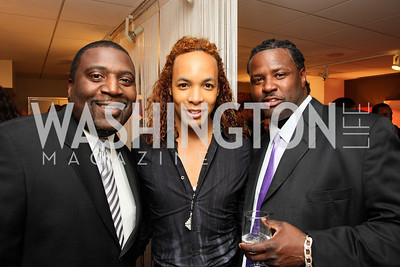 """Terk Stevens"", ""Paul Wharton"", ""Deylon Gigger"" Honorary Chairs Hill Harper and The Honorable James Clyburn host a cocktail reception and fundraiser for Manifest Your Destiny Foundation at Fendi Casa May 13, 2009 (photo by Tony Powell)"