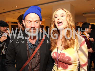 Michael Stipe and Heather Graham. ManifestHope: DC Closing Night. photos by Tony Powell.