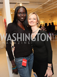 Nunu Deng and Julia Bellafiore. ManifestHope: DC Closing Night. photos by Tony Powell.