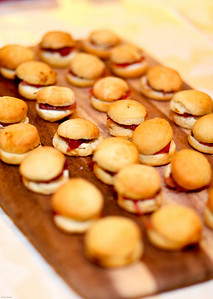Baby biscuits with goat cheese, Virginia Ham, and fig preserves. March of Dimes Signature Chefs Auction of DC. Ritz Carlton Ballroom. November 2, 2009. photos by Tony Powell