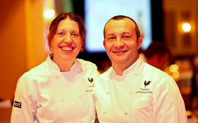 Bastille Chefs Michelle and Christophe Poteaux. March of Dimes Signature Chefs Auction of DC. Ritz Carlton Ballroom. November 2, 2009. photos by Tony Powell