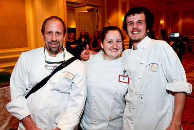 Chef Howard Foer, Katie Kopsick, Conner Hearty. March of Dimes Signature Chefs Auction of DC. Ritz Carlton Ballroom. November 2, 2009. photos by Tony Powell