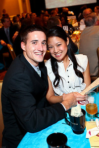 Dan Vagnerini and Heather Han. March of Dimes Signature Chefs Auction of DC. Ritz Carlton Ballroom. November 2, 2009. photos by Tony Powell