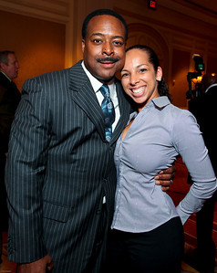 Leon Harris and Nicole Restivo. March of Dimes Signature Chefs Auction of DC. Ritz Carlton Ballroom. November 2, 2009. photos by Tony Powell