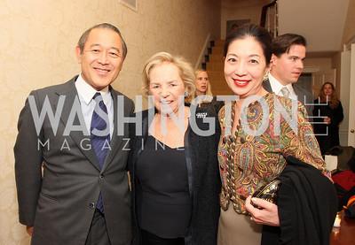 ichiro fujisaki, ethel kennedy, yoriko fujisaki, Photo by Tony Powell