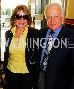 Ivana Baki, Buzz Aldrin  Photo by Kyle Samperton