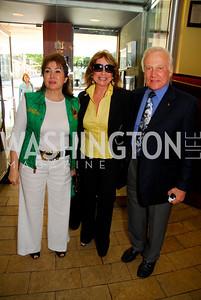 Maha Kadour, Ivana Baki, Buzz Aldrin  Photo by Kyle Samperton