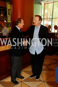 Mort Zuckerman, Lawrence O'Donnell  Photo by Kyle Samperton