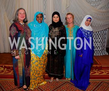 Nevine Hassouna, Amina Olhaye, Ebdit Sam, Kathleen El-Maaroyfi, Hanan Hasan.  Photograph by Kyle Samperton