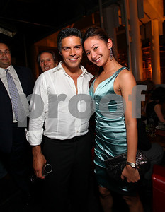 Esai Morales and Anchyi Wei. 2009 Noche de Gala. Corcoran Gallery of Art. September 15 , 2009. photos by Tony Powel